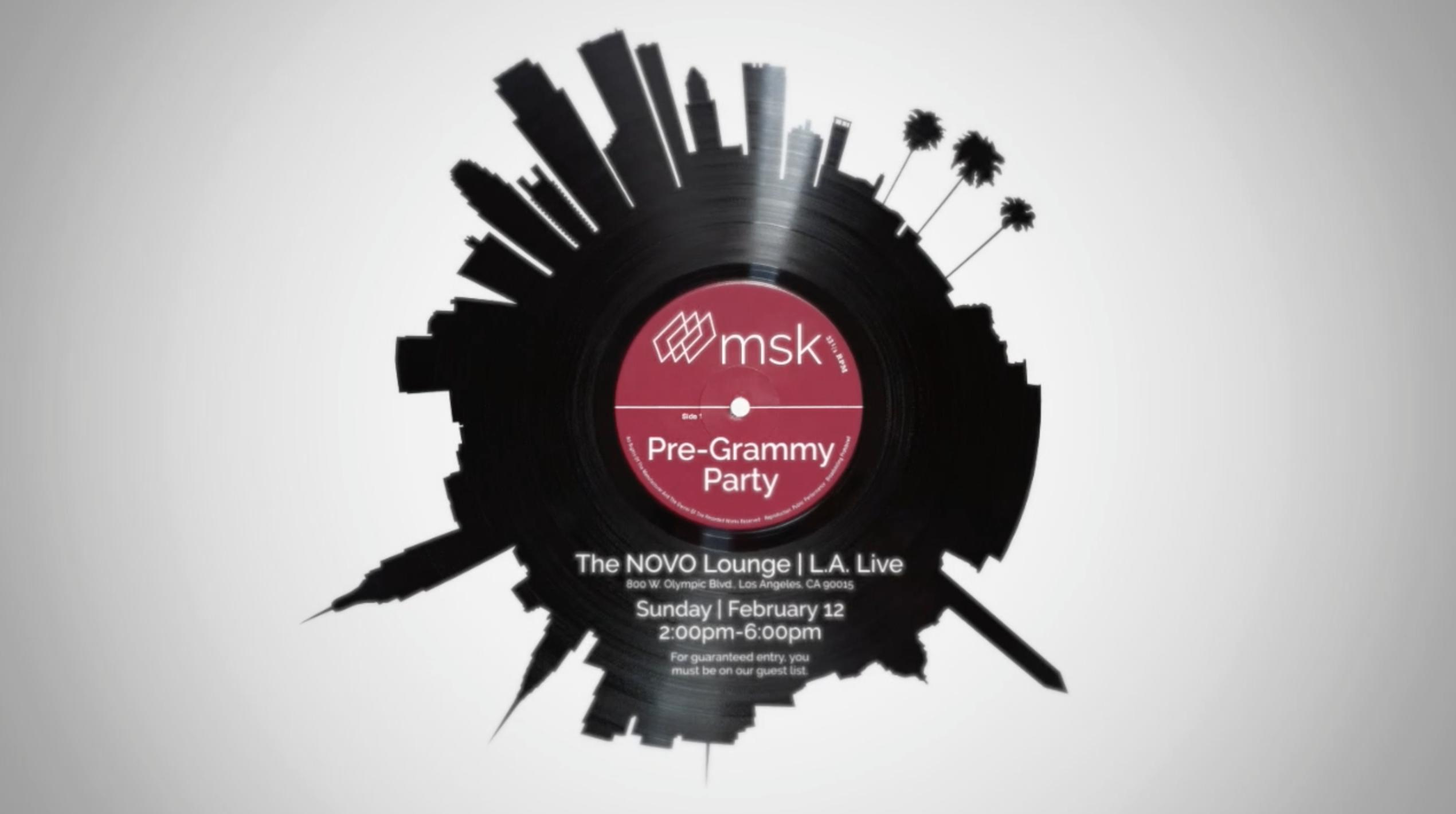 2017 msk pre grammy party invitation