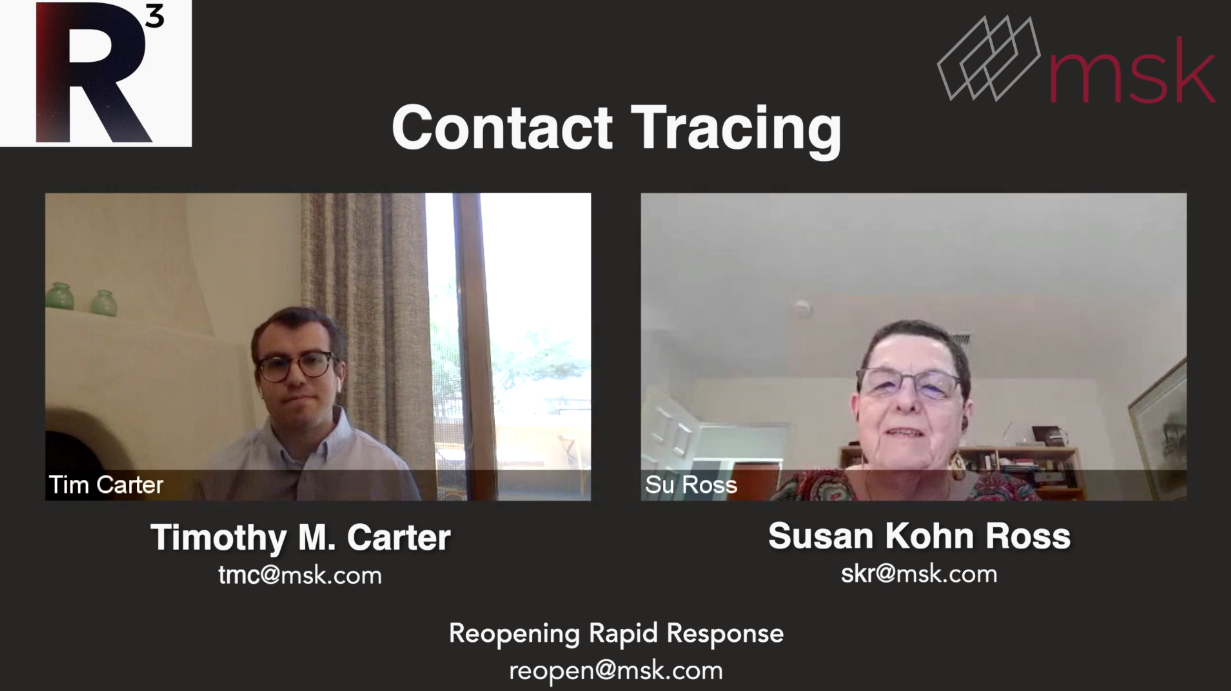 MSK Minute: Su Ross and Tim Carter Discuss Contact Tracing