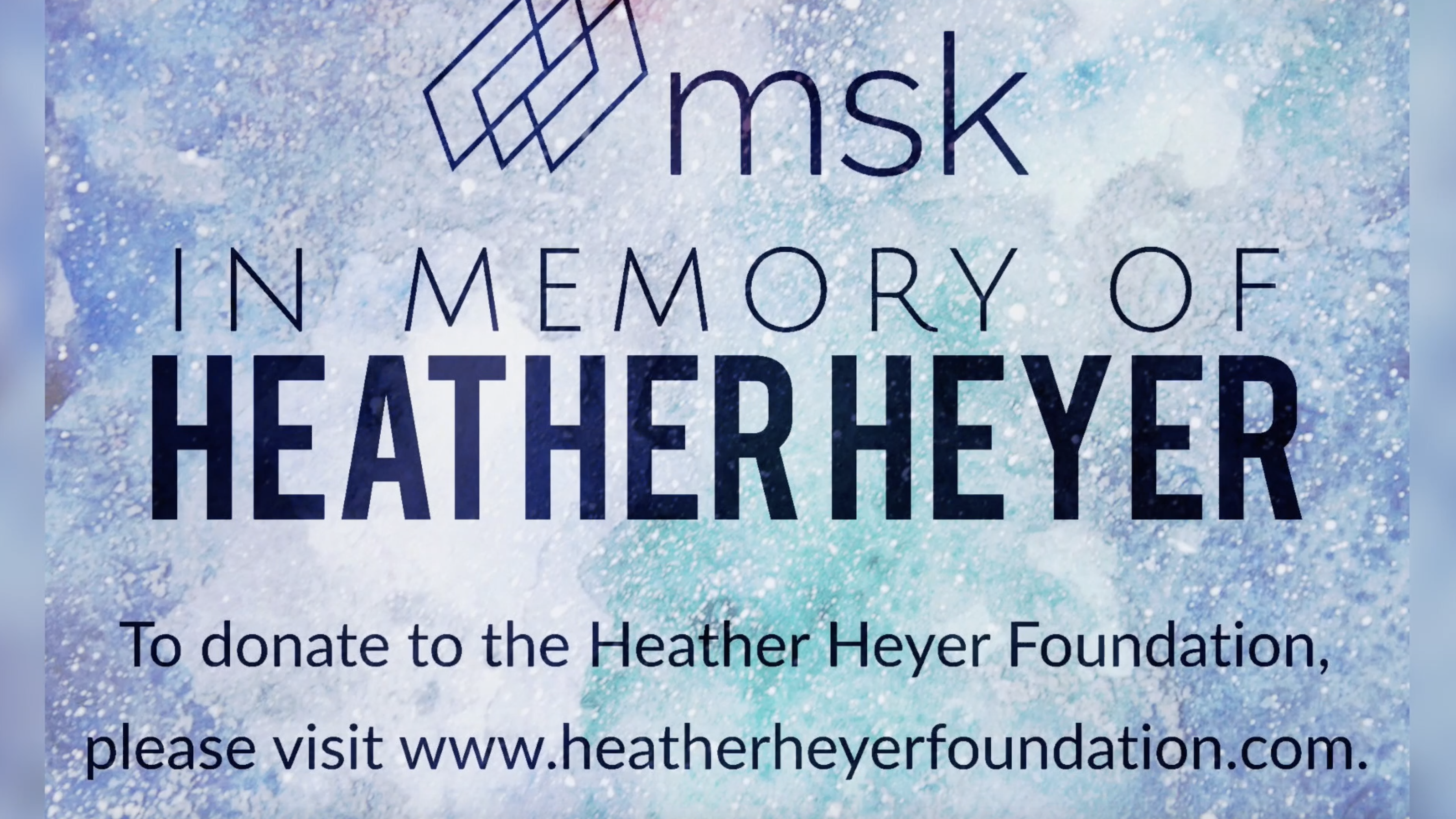 MSK in Support of the Heather Heyer Foundation