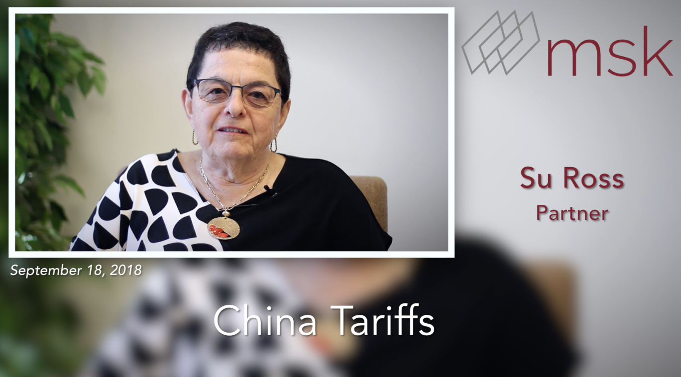 China Tariffs - List 3 Finalized and Taking Effect