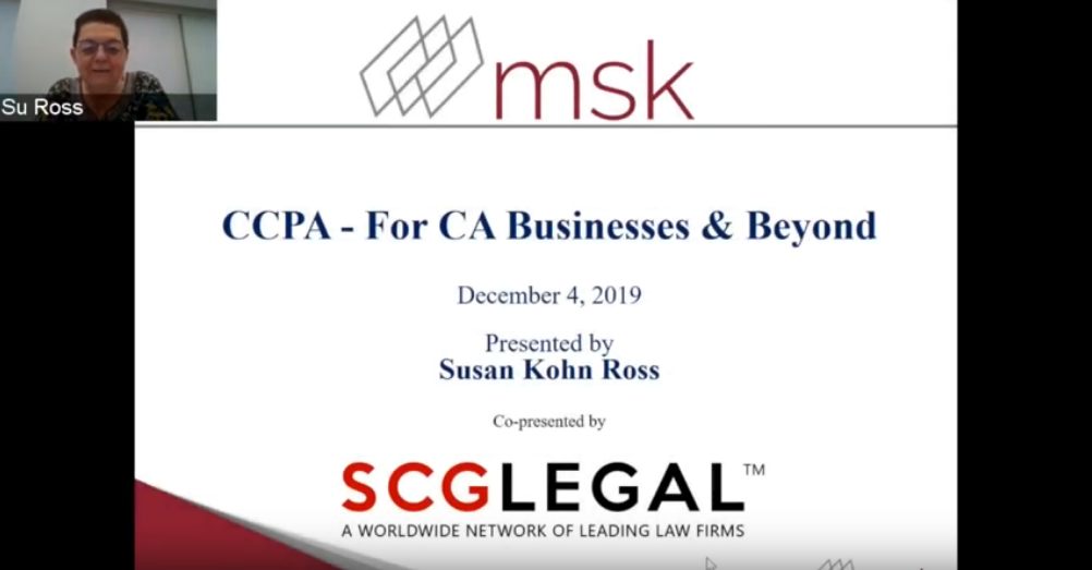 CCPA – For CA Businesses & Beyond