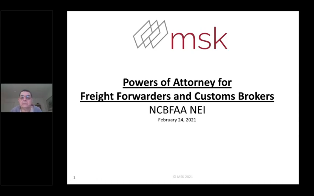 Powers of Attorney for Freight Forwarders and Customs Brokers