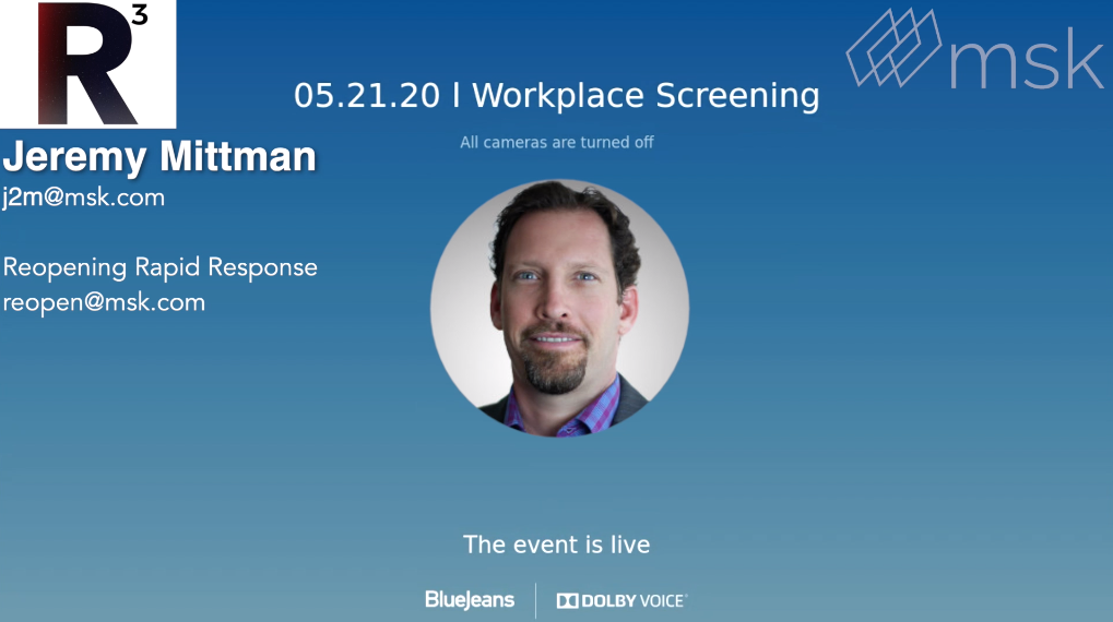 MSK Minute: Jeremy Mittman Covers Workplace Screening